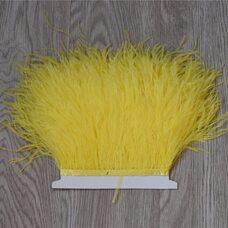 Тесьма из перьев страуса 13-15 см, 1м. - Желтый цвет
