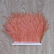 Тесьма из перьев страуса 13-15 см, 1м. Watermelon red