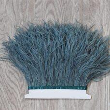 Тесьма из перьев страуса 13-15 см, 1м. - Грязно-зеленый цвет
