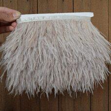 Тесьма из перьев страуса 13-15 см, 1м. - Светло-серый