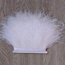 Тесьма из перьев страуса 13-15 см, 1м. - Белый цвет