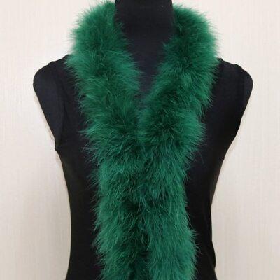 Толстые боа марабу Люкс, длинна 2м, 50гр -  Зеленый цвет