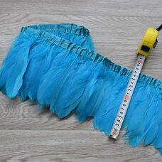 Тесьма из перьев гуся 15-20 см, 1м. Голубой цвет