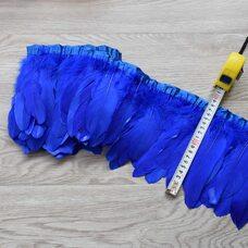 Тесьма из перьев гуся 15-20 см, 1м. Синего цвета