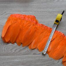 Тесьма из перьев гуся 15-20 см., 1м. Оранжевый цвет