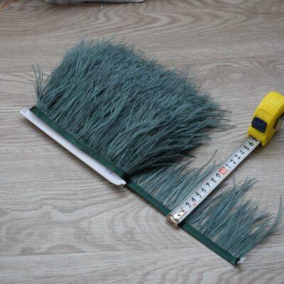 Тесьма из перьев страуса 8-10 см, 1м. - Грязно-зеленый цвет