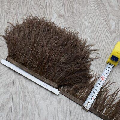 Тесьма из перьев страуса 8-10 см, 1м. #21