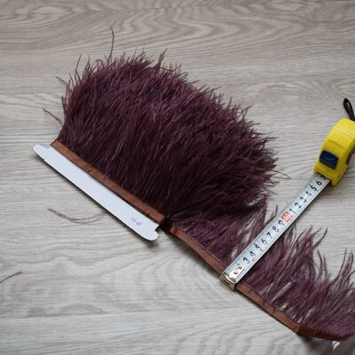 Тесьма из перьев страуса 8-10 см, 1м. - Цвет #40