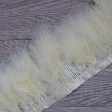 Тесьма из перьев марабу на ленте 15-18 см, 1м. Бежевый цвет