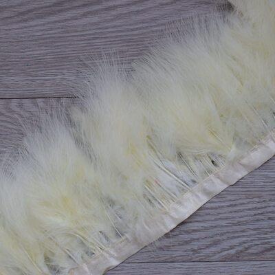Тесьма из перьев марабу на ленте 15-20 см, 1м. Бежевый цвет