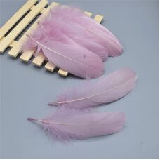 Пушистые перья гуся 13-18 см, 20 шт. Светло-сиреневый цвет