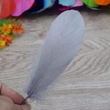 Пушистые перья гуся 13-18 см, 20 шт. Серого цвета