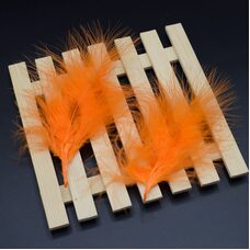 Перья марабу 10-16 см. 20 шт. Оранжевый цвет