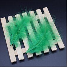 Перья марабу 10-16 см. 20 шт. Зеленого цвета