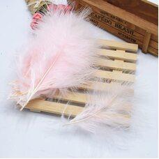 Перья марабу 10-16 см. 20 шт. Светло-розового цвета
