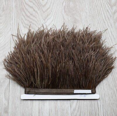 Тесьма из перьев страуса 13-15 см, 1м. -  #21