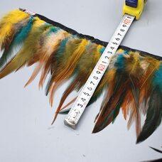 Тесьма из перьев курицы 10-15 см, 1м. - Микс #1