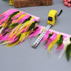 Тесьма из перьев курицы 10-13 см, 1м. - Микс #3