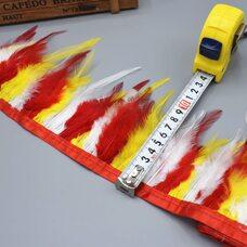 Тесьма из перьев курицы 10-13 см, 1м. - Микс #6