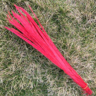 Декоративные перья Pheasаnt 40-45 см. (Хвост) 1 шт. Красного цвета