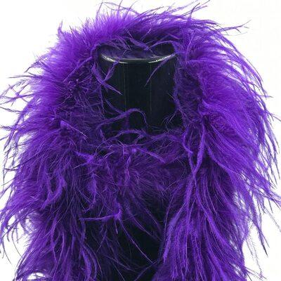 Боа из перьев страуса, однослойное, длинна 2м. - Фиолетовые