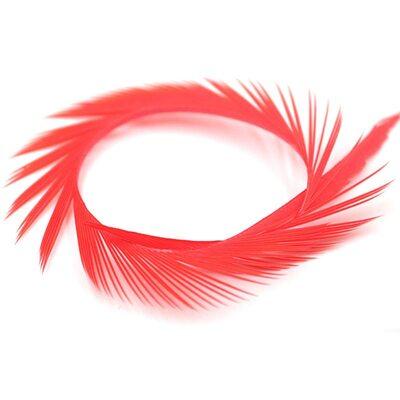 Перья гуся 15-20 см. биот (нити) - 10 шт. Красный цвет