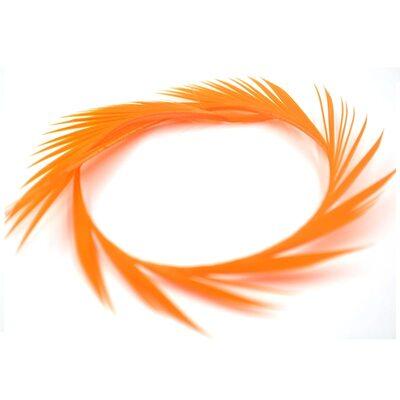 Перья гуся 15-20 см. биот (нити) - 10 шт. Оранжевый цвет