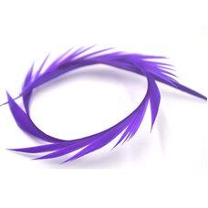 Перья гуся 15-20 см. биот (нити) - 10 шт. Фиолетовый цвет