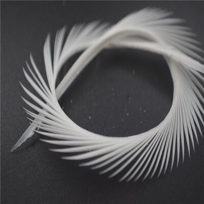Перья гуся 15-20 см. биот (нити) - 10 шт. Белый цвет