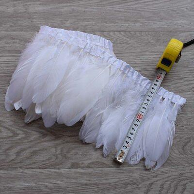 Тесьма из перьев гуся 15-20 см, 1м. Белый цвет