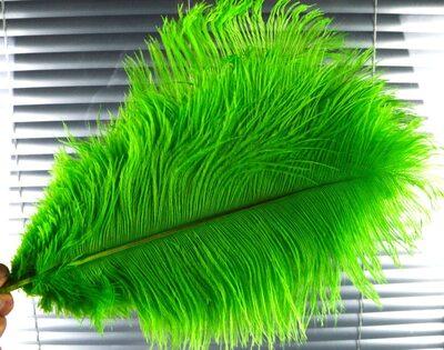 Премиум перья страуса 50-55 см. Салатовый цвет