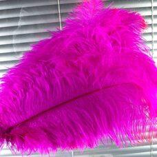 Премиум перья страуса 50-55 см. Фуксия