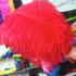 Премиум перья страуса 55-60 см. Красный цвет