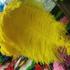 Премиум перья страуса 55-60 см. Желтый цвет