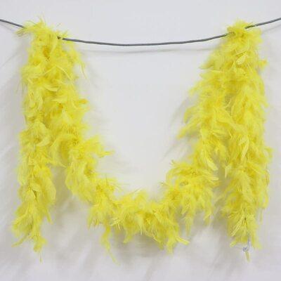 Боа из перьев индейки 60 гр., 1,8 м. - Желтый цвет