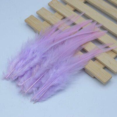 Перья петуха 10-15 см. 20 шт. Светло-фиолетовые