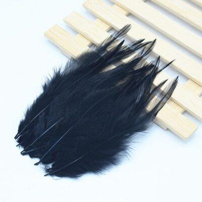 Перья петуха 10-15 см. 20 шт. Черный цвет
