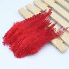 Перья петуха 10-15 см. 20 шт. Красного цвета