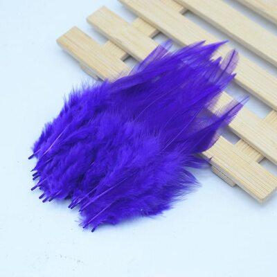 Перья петуха 10-15 см. 20 шт. Фиолетового цвета