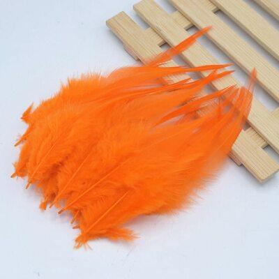 Перья петуха 10-15 см. 20 шт. Оранжевый цвет