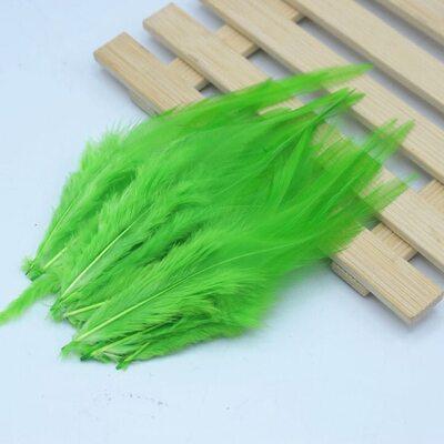 Перья петуха 10-15 см. 20 шт. Цвет Зеленое яблоко