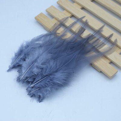 Перья петуха 10-15 см. 20 шт. Серый цвет