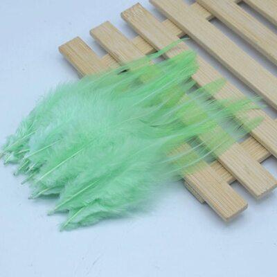 Перья петуха 10-15 см. 20 шт. Ментолового цвета