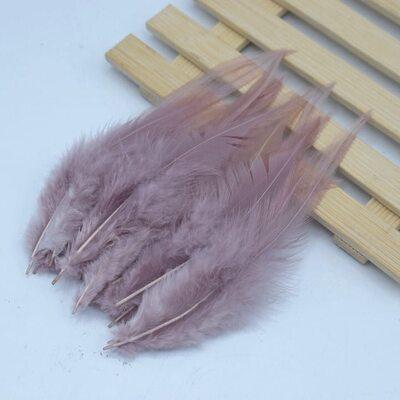 Перья петуха 10-15 см. 20 шт. Светло-коричневого цвета