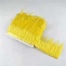 Тесьма из перьев петуха на ленте 10-15 см, 1м. Желтый цвет