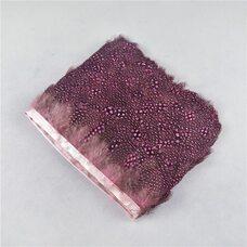 Тесьма из перьев цесарки 6-10 см, 1м. Розовый цвет