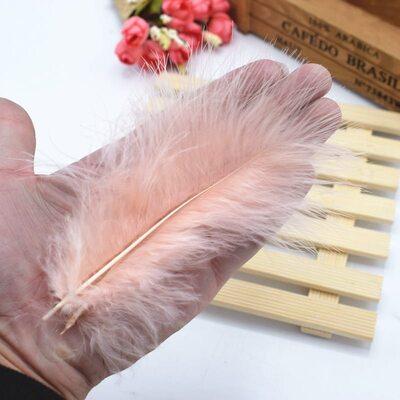 Перья марабу 10-16 см. 20 шт. Персиковый цвет