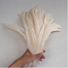 Перья петуха 30-35 см. 1 шт. Бежевый цвет