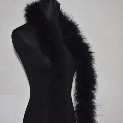 Толстые боа марабу Люкс, длинна 2м, 50гр - Черный цвет