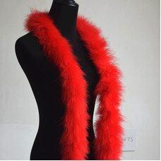 Толстые боа марабу Люкс, длинна 2м, 50гр - Красный цвет